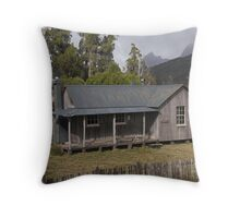 Mount Kate Hut and Cradle Mountain Throw Pillow