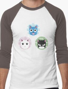 Chibi fairy cats Men's Baseball ¾ T-Shirt