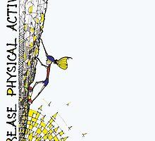 Increase Physical Activity - Rock Climbing 2 by kjadesign