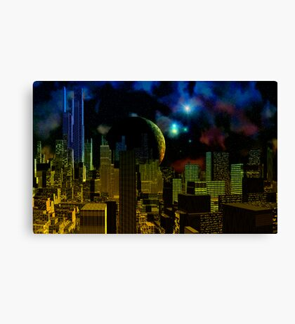 Blue Towers of Krill Canvas Print
