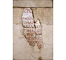 It's Greek to Me! Photographic Print