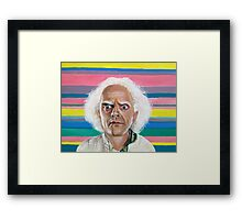 Great Scott :: Doc Brown from Back to the Future Inspired Fan Art Framed Print