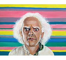 Great Scott :: Doc Brown from Back to the Future Inspired Fan Art Photographic Print