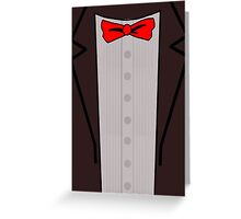 Doctor Who Suit Greeting Card