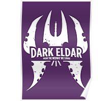 Dark Eldar - White Poster
