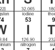 Periodic Table Pornstar Sticker