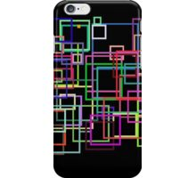 Empty Squares on a black background iPhone Case/Skin