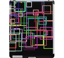 Empty Squares on a black background iPad Case/Skin