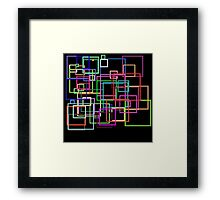 Empty Squares on a black background Framed Print
