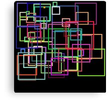 Empty Squares on a black background Canvas Print