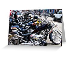 Bikers Arrive In Florence  Greeting Card