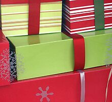 Lime and Red Christmas Packages by CarolM