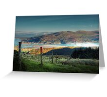 Sunrise over barmouth . Greeting Card
