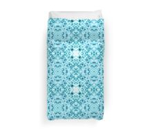 """Spirit of India: Snow-Fleur"" in turquoise and cyan Duvet Cover"