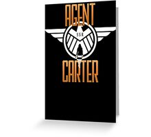 Agent Carter Greeting Card