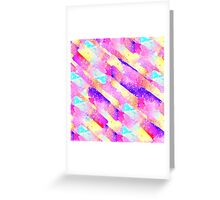 Abstract colorful rainbow watercolor brushstrokes Greeting Card