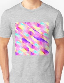 Abstract colorful rainbow watercolor brushstrokes Unisex T-Shirt