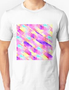 Abstract colorful rainbow watercolor brushstrokes T-Shirt