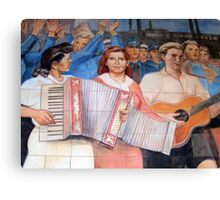 East German Socialist Mural, Berlin Canvas Print
