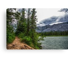 Bow River, Alberta Canada Canvas Print