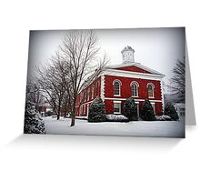 Iron County Courthouse in the Snow Greeting Card