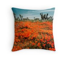 Explosion of Poppies Throw Pillow