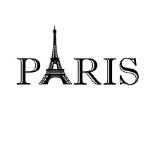 Paris Eiffel Tower Classic Black And White by AmazingMart