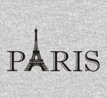 Paris Eiffel Tower Classic Black And White Kids Clothes