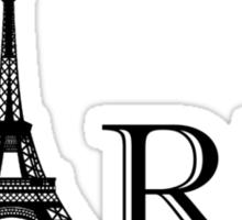 Paris Eiffel Tower Classic Black And White Sticker