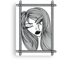 Glamour pattern with beautiful girl. Canvas Print