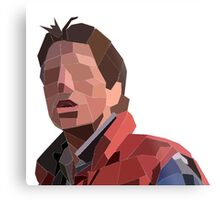Marty Mcfly Polygons Metal Print