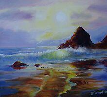 Study of light on beach by Gary Shaw