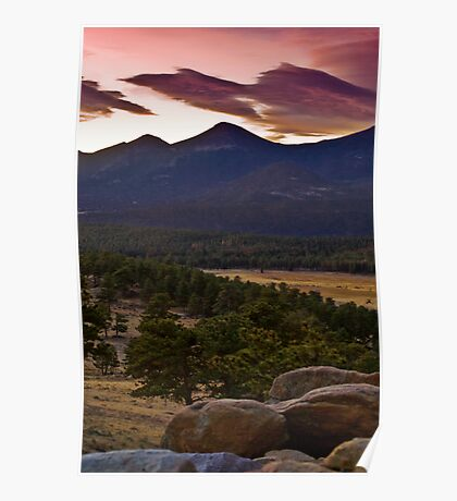 Sunrise At Upper Beaver Meadows Poster