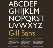 Gill Sans (white) by millytant