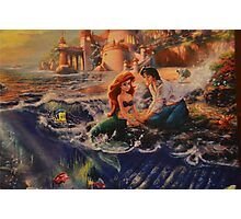 Disney Little Mermaid Princess Ariel Prince Eric  Photographic Print
