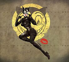 Catwoman War Pin Up Bombshell by atomicgirl