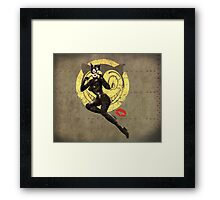 Catwoman War Pin Up Bombshell Framed Print