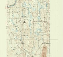 Maine USGS Historical Map Mars Hill 306653 1951 62500 by wetdryvac