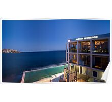 Early evening at the Bondi Icebergs Poster