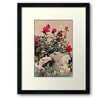 Man In Garden Framed Print
