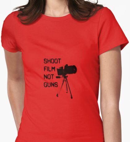 Shoot Film, Not Guns Womens Fitted T-Shirt