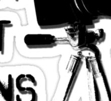 Shoot Film, Not Guns Sticker