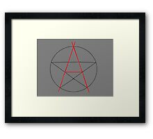 Witchy Anarchist Framed Print