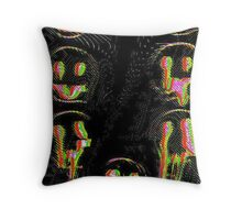 Trippy Face Throw Pillow