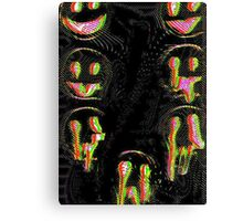 Trippy Face Canvas Print