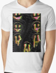 Trippy Face Mens V-Neck T-Shirt