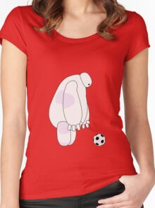 Big Hero 6 - Baymax (Red) Women's Fitted Scoop T-Shirt