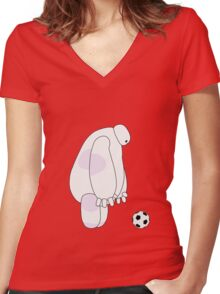 Big Hero 6 - Baymax (Red) Women's Fitted V-Neck T-Shirt
