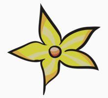 Yellow Flower One Piece - Short Sleeve