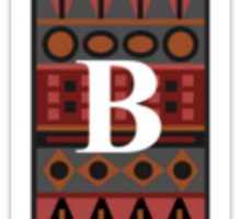 Letter B, Tribal Alphabet Sticker
